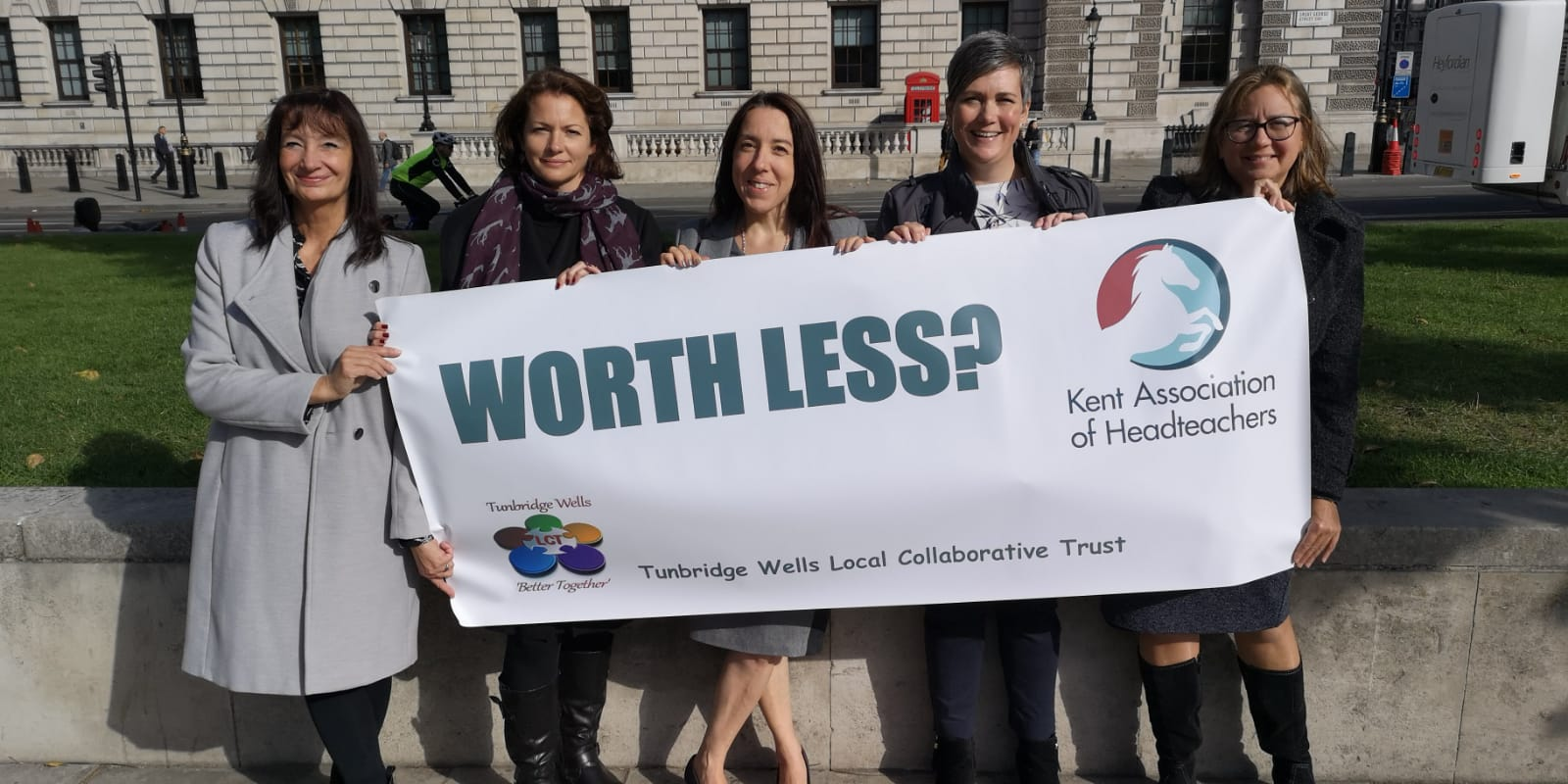 WorthLess Campaign - march to Downing Street 28 September 2018